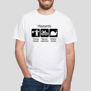 Geocaching Hazards White T-Shirt