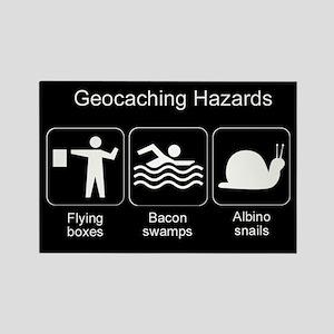 Geocaching Hazards Rectangle Magnet
