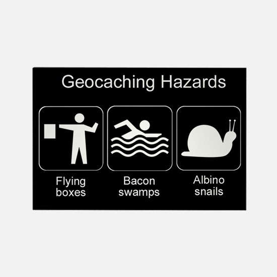 Geocaching Hazards Rectangle Magnet