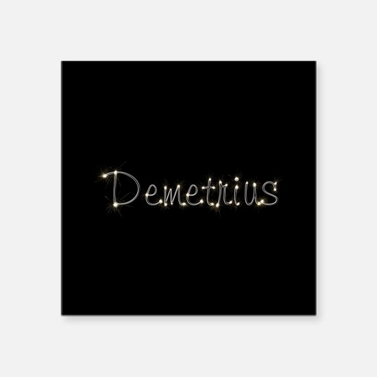 "Demetrius Spark Square Sticker 3"" x 3"""