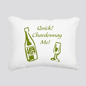 Chardonnay Me Rectangular Canvas Pillow