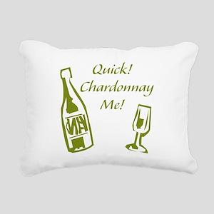 Chardonnay Me Rectangular Canvas Pillow