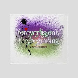 Breaking Dawn Forever Twilight Throw Blanket