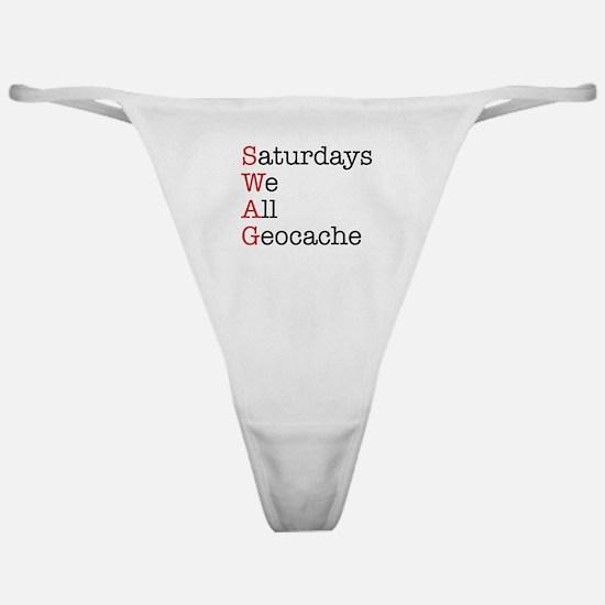 Saturdays we all geocache Classic Thong