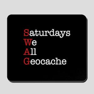Saturdays we all geocache Mousepad