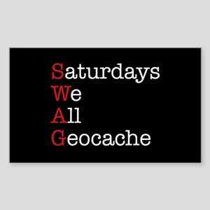 Saturdays we all geocache Sticker (Rectangle)