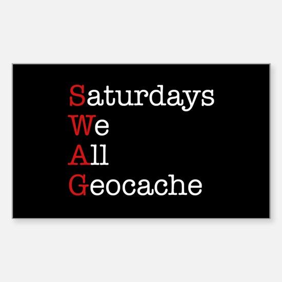 Saturdays we all geocache Sticker (Rectangle)