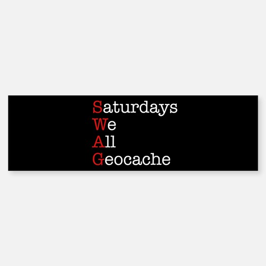 Saturdays we all geocache Sticker (Bumper)