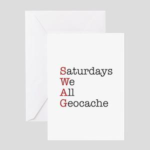 Saturdays we all geocache Greeting Card