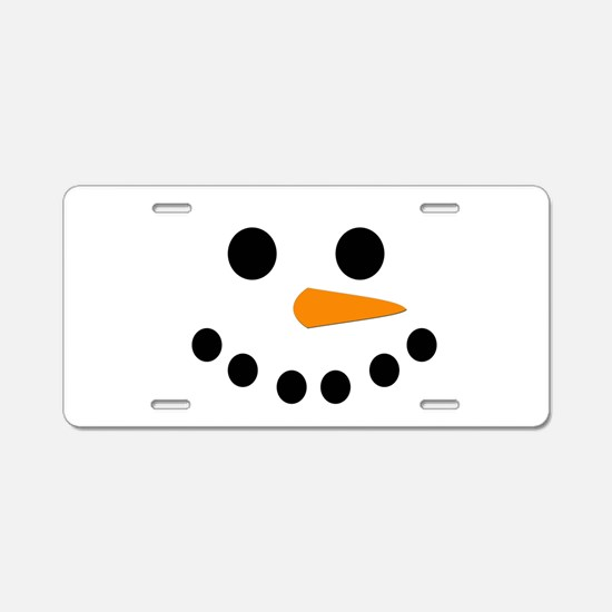 Snowman Face Aluminum License Plate