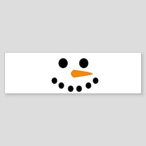 Snowman Face Sticker (Bumper)
