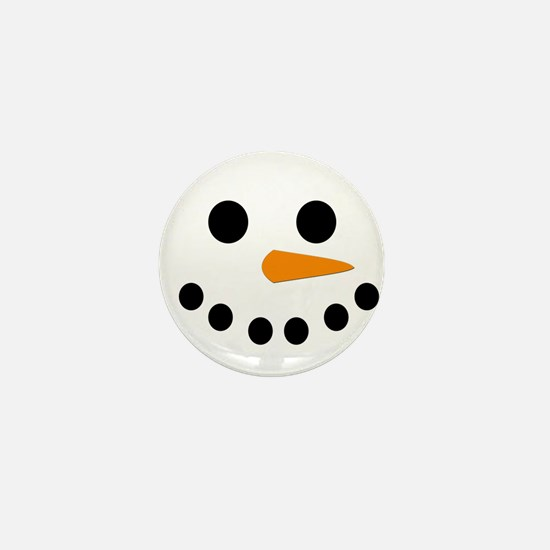 Snowman Face Mini Button (100 pack)