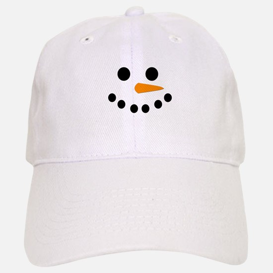 Snowman Face Baseball Baseball Cap