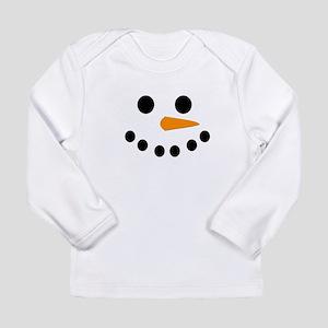 Snowman Face Long Sleeve Infant T-Shirt