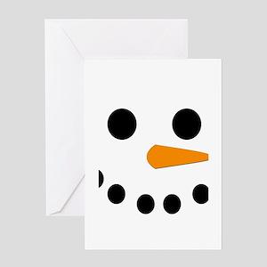 Snowman Face Greeting Card