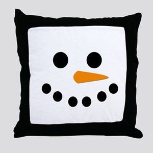 Snowman Face Throw Pillow