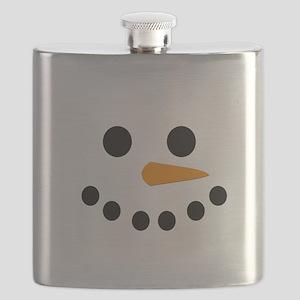 Snowman Face Flask
