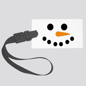 Snowman Face Large Luggage Tag