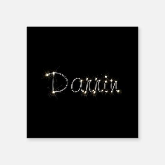 "Darrin Spark Square Sticker 3"" x 3"""