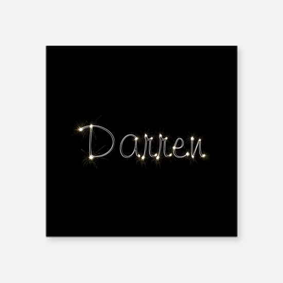 "Darren Spark Square Sticker 3"" x 3"""
