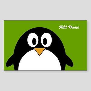 Penguin Cartoon with name Sticker (Rectangle)