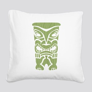Angry Tiki! Square Canvas Pillow
