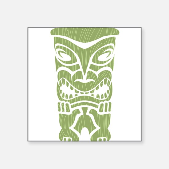 """Angry Tiki! Square Sticker 3"""" x 3"""""""