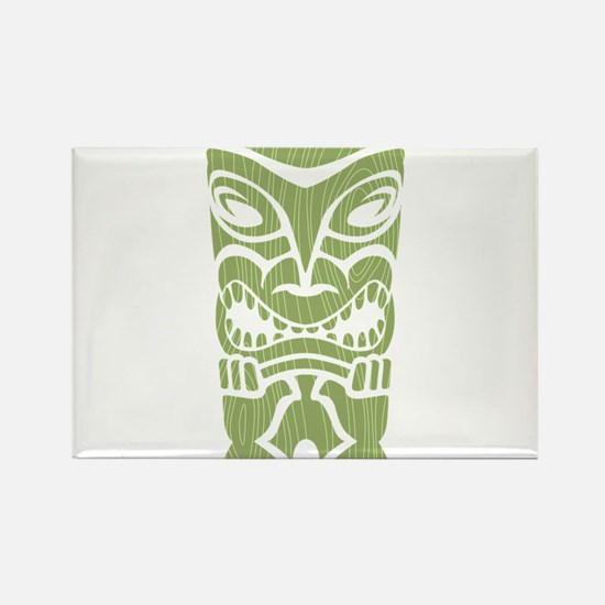 Angry Tiki! Rectangle Magnet