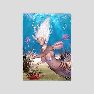 Mermaid! 5'x7'Area Rug