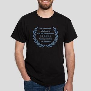 I am not a terrorist - UN Black T-Shirt