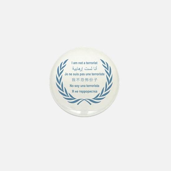 I am not a terrorist (f) - UN Mini Button