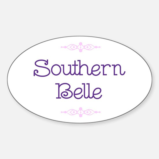 """""""Southern Belle"""" Oval Decal"""