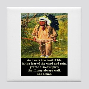 THE TRAIL OF LIFE Tile Coaster