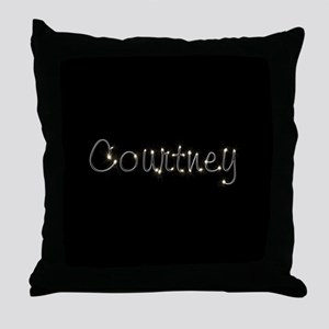 Courtney Spark Throw Pillow