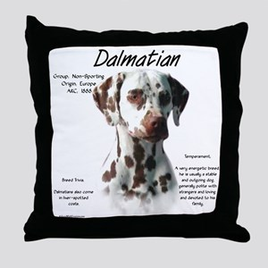 Dalmatian (liver spots) Throw Pillow