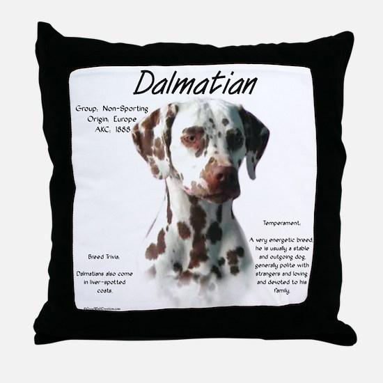 Dalmatian (liver spots) Throw Pillow
