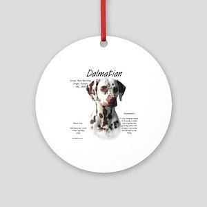 Dalmatian (liver spots) Round Ornament