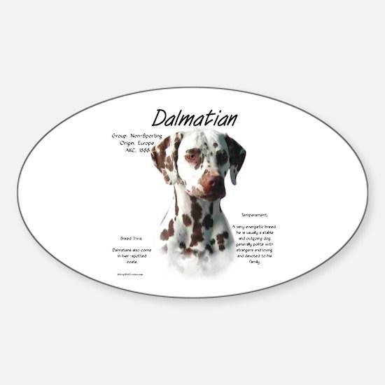 Dalmatian (liver spots) Sticker (Oval)