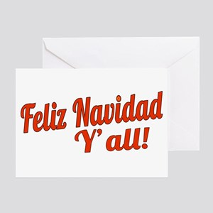 Feliz Navidad Yall Greeting Card