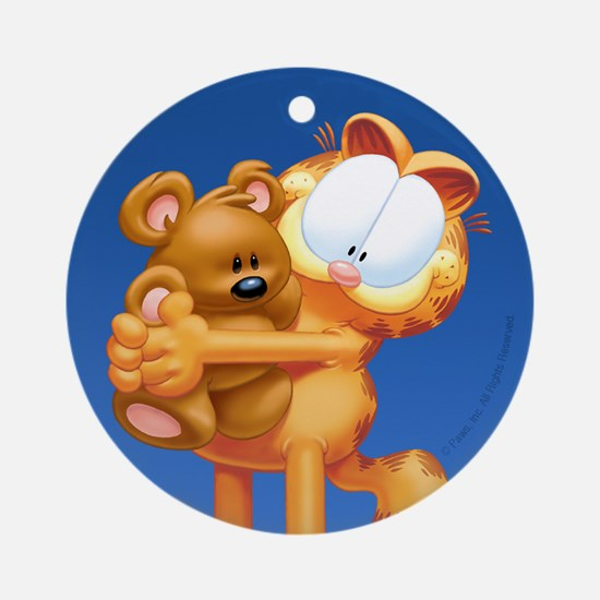 Garfield and Pooky Ceramic Ornament (Round)