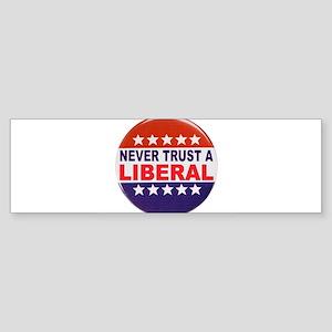LIBERAL POLITICAL BUTTON Sticker (Bumper)