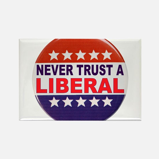 LIBERAL POLITICAL BUTTON Rectangle Magnet