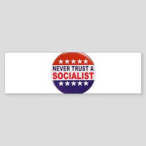 SOCIALIST POLITICAL BUTTON Sticker (Bumper)