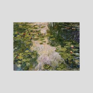 Water Lilies, Monet 5'x7'Area Rug