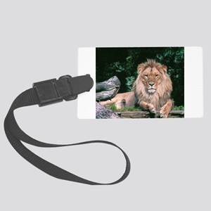 Lazy Lion Large Luggage Tag