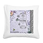 Girly Purple Vintage Collage Square Canvas Pillow