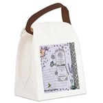 Girly Purple Vintage Collage Canvas Lunch Bag
