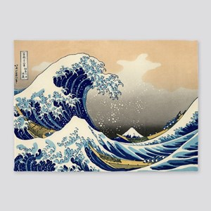 The Great Wave 5'x7'Area Rug