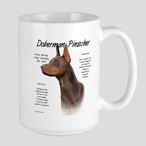 Doberman (red) 15 oz Ceramic Large Mug