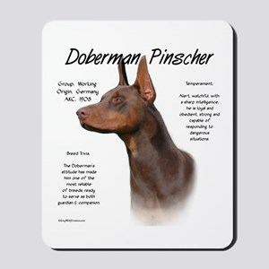 Doberman (red) Mousepad